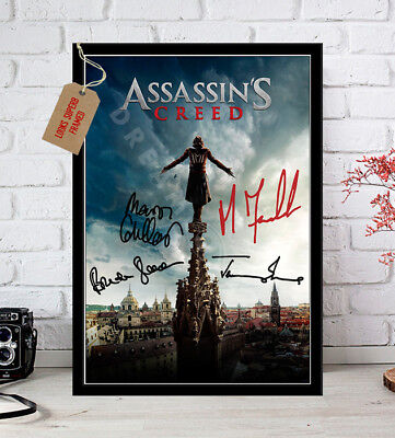 Assassin's Creed 2016 Michael Fassbender Cast Autographed Signed Movie Print