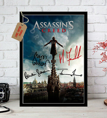 Michael Fassbender Bredon Gleeson Assassins Creed Autographed Signed Movie Print