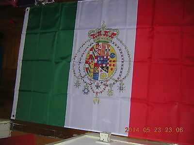 Reproduced Flag of the Kingdom of the Two Sicilies 1860-1861 Italy Ensign 3X5ft