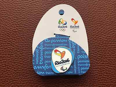 Rio 2016 Olympics Pin Badge BLUE Colour - Official Paralympics Games