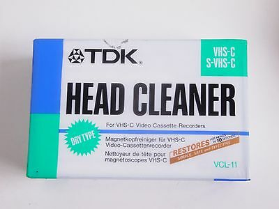 TDK  Head Cleaner For VHS Video VHS-C S-VHS-C Tape