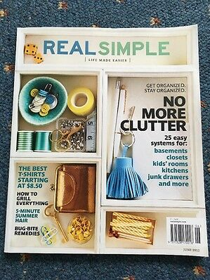 Real Simple Magazine June 2012 Storage Solution Ideas Life Made Easier