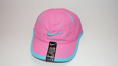 Nwt New Hat Cap Nike Strap Adjustable Youth 4-6X Pink Blue Feather Light Cap