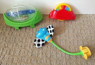 Fisher Price Rainforest Jumperoo Replacement Dragonfly Spinner Lizard Toy Lot