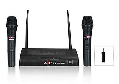 AXESS Dual Wireless Microphone System MPWL1510-BK