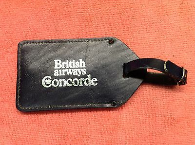 British Airways Concorde Luggage tag in leather.