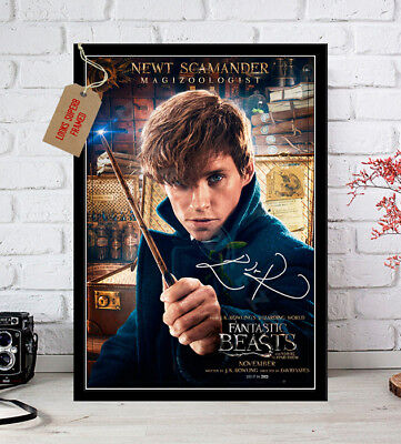 Eddie Redmayne Fantastic Beasts Autographed Signed Movie Print
