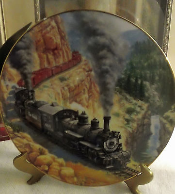 "Hamilton Collection 8"" Plate ""Above the Canyon"" From The Golden Age of Railroad"