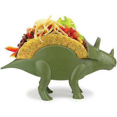 NEW Tricerataco Double-Slotted Dinosaur Shaped Taco Holder For Fun Meal-Time
