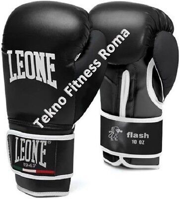 Leone Guantoni Flash Nero 10/12/14/16 Oz Sparring Boxe Kick  Thai Mma Guanti