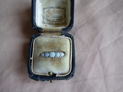 Vintage 5 Stone 9ct White Gold Opal Ring