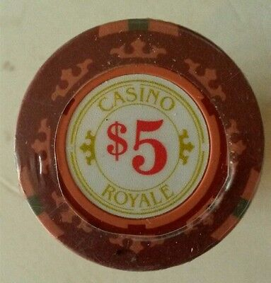 Casino Royale Poker Chips - Red $5 (Roll of 25)