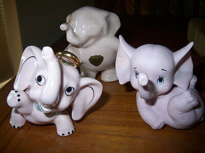 Vintage Pink Elephant Pottery - Pretty cute in pink!