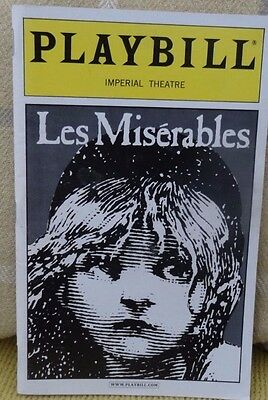 Les Miserables,   Playbill programme Imperial Theatre, September 2004