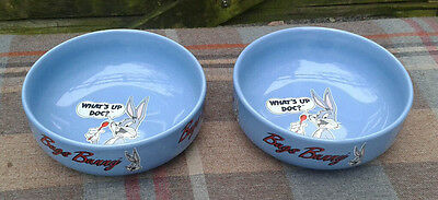 Set of two Vintage 1992 Bugs Bunny What's Up Doc? cereal bowls