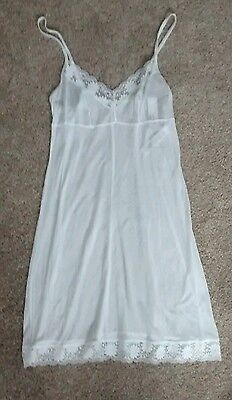 Marks and Spencer white lace trim full slip (or nightdress) size 10 new