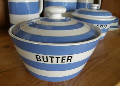 VINTAGE T.G.Green CORNISHWARE ~ round BUTTER dish ~ Green Shield