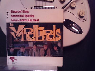 Rare Vinyle Ep 45 Tours France The Yardbirds  Shapes Of Things