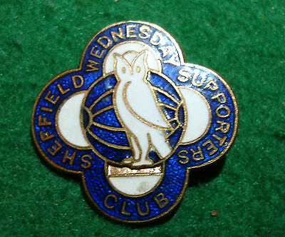 Sheffield Wednesday Supporters Club maker Fattorini 1960s Vintage enamel badge