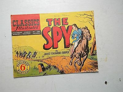 Classics Illustrated  The Spy By James Fenimore Cooper  Australian Edition  1949