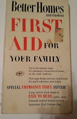 Better Homes And Garden First Aid Book 1960