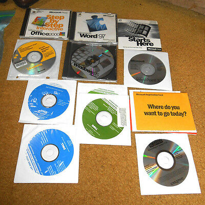 LOT 13 Microsoft Dell Software Works Word Office Project Visual Studio RARE 95