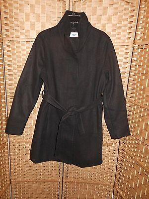 OLD NAVY Maternity BLACK Funnel Neck Jacket Coat ~ SIZE LARGE
