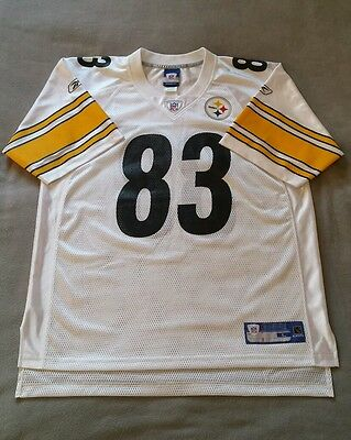 Pittsburgh Steelers Jersey 83 Miller NFL Reebok White Mens Size L