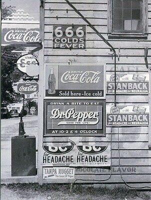 Postcard Of Vintage Photograph A General Store In The South With Lots Of Signs