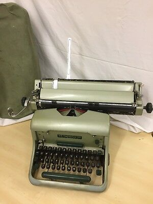 Vintage Imperial 66 Typewriter With Original Cover Used But Working