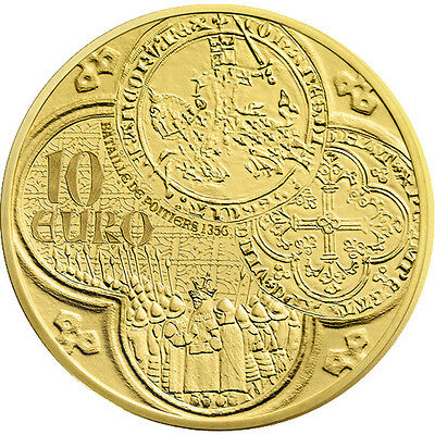 [#89755] France, 10 Euro, 2015, MS(65-70), Gold, 3.11