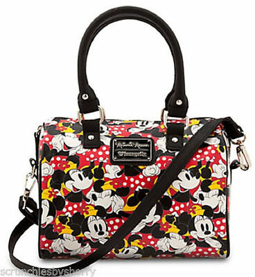 Disney-Store-Minnie-Mouse-Duffle-Crossbody-Bag-by-Loungefly