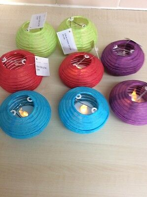 8  x light up lanterns new with tags