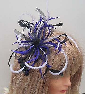 Black/Purple/Lilac Hair fascinator Mother Of The Bride Weddings Christenings