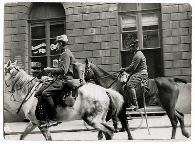 World War One Ww1 Original Photo - French Officer Morocco Riding Ghent Street
