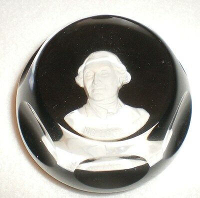 Vintage Baccarat Sulfide Paperweight King Louis XVI Franklin Mint