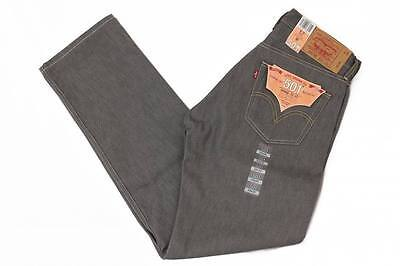 Levis 501 Grey Rigid Mens Jeans Original Shrink To Fit Gray Button Fly 005010631