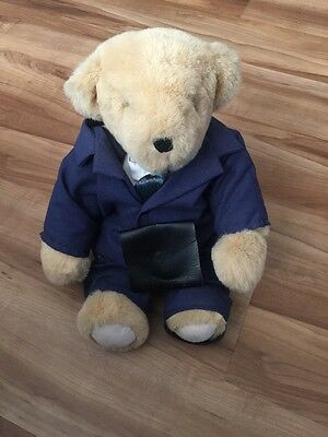 Vermont Teddy Bear In Blue Suit With Briefcase