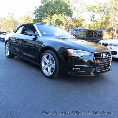 2013 Audi A5 2dr Cabriolet Auto quattro 2.0T Premium Plus ONE OWNER CARFAX CERTIFIED !! FACTORY WARRANTY !! BEST COLOR COMBO !