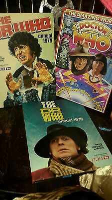 Vintage DR WHO annuals collection
