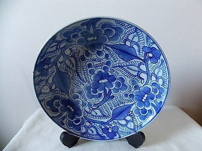 Handpainted CHINESE BOWL backstamped to the base China blossom blue floral early