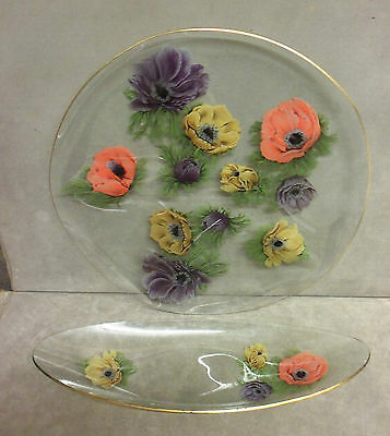 Retro - Chance Glassware Plate And Serving Platter. VGC