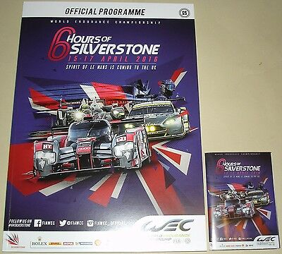 Le Mans - WEC 6 Hours Of Silverstone 2016 Programme & Fold Out Mini Guide/Poster