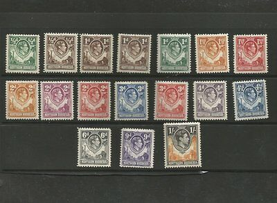 Northern Rhodesia Mint Stamp Set 1938 Sg 25-40 Cat Val £128.00