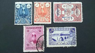 Early 1900`s Persian Ir.ianian stamp selection