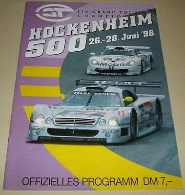 FIA GT 1998 Grand Touring Championship GT1 - Hockenheim Official Event Programme