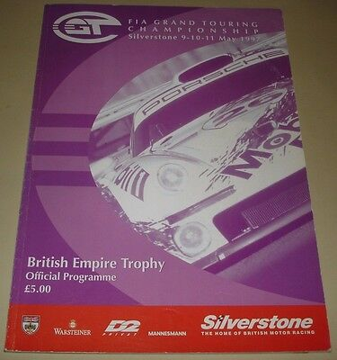 FIA GT 1998 Grand Touring Championship GT1 Silverstone Official Event Programme