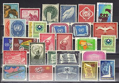 United Nations Mnh Lot / Collection #800