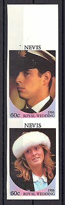 Nevis Mnh 1986 Royal Wedding Prince Andrew Imperf Issue