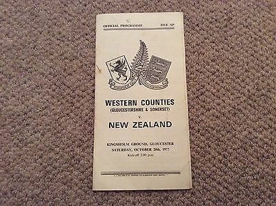 1972 Western Counties v New Zealand.   Rugby Union Tour Match